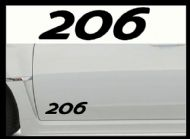 PEUGEOT 206 CAR BODY DECALS